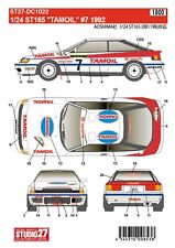 1/24 1992 Toyota ST165 GT-Four #7 Tamoil decal set ~ Studio 27 DC1022