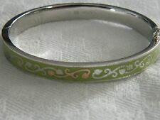 Clogau Silver & Welsh Gold Tree of Life Olive Coloured Enamel Bangle RRP £350.00