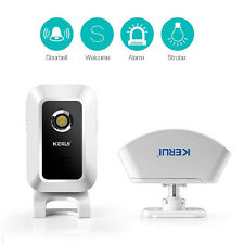 KERUI M7 Door Bell Welcome Chime Wireless Motion Sensor Burglar Alarm Night-Ligh