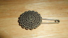 vintage Sunflower pin brooch scarf shawl belt buckle