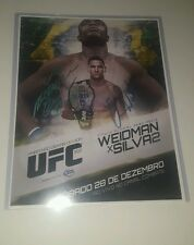 UFC 168 11x14 picture signed by Anderson Silva and Chris Weidman