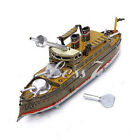 Good Wind Up Tin Toy Clockwork Battleship Boat Model Vintage Collectible Gift