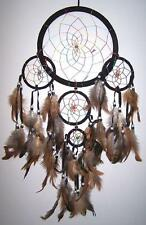 large BLACK RAINBOW DREAMCATCHER new DREAMCATHERS 24 IN wall decoration webbed