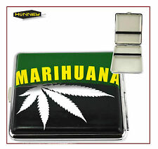 Marijuana Cigarette Case Tobacco Weed Metal Holder Storage Roll Up Cannabis Box