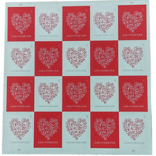 Forever Heart USPS Forever Postage Stamps Sheet of 20 Wedding Valentine Day Love