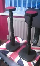 pair of  helmet and hat display stands,for german american and british helmets,