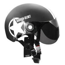 Casco de Jet Visera Motocross helmet helmet Medio Casco Seguridad Estrella