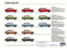 Ford ESCORT prospectus 16.8.77 brochure 1977 auto voiture Allemagne autoprospekt