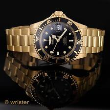 Invicta Pro Diver 18k Gold Plated Automatic NH35A Black Dial $315 New Mens Watch