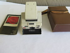 Vintage Polaroid SX-70 Model 2 WHITE Land Camera w/ Case and Manual