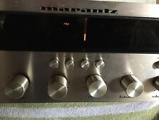 MARANTZ 2230 Champagne Engraved Faceplate,SN 3526 Parts/repair.