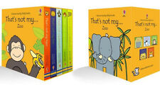Touchy Feely Books Box Set That's Not My Zoo 5 bks (bb) by FIona Watt NEW