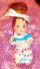 NEW TINY Dressed NEWBORN Darling Auburn Hair Baby Doll~Topper DAWN Krissy Size