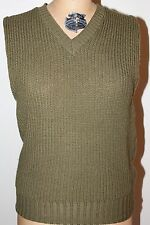 ORIGINAL WWII US ARMY OFFICERS O.D. WOOL KNIT SWEATER VEST-BRENTWOOD