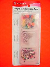 SInger Straight Pin Multi-Purpose Pack - 285 Pins - 3 Types of Pins