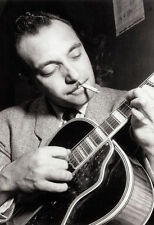 Django Reinhardt Poster, Smoking, Playing Guitar, Gypsy Guitarist