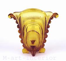 Art Déco Glas Vase Jardiniere Sachsenglas Ottendorf Amber Glass Centrepiece
