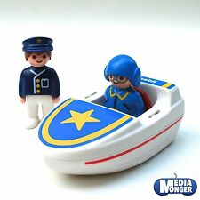 playmobil® First-Smile & 1.2.3®  Motorboot inkl. Pilot- und Polizeifigur