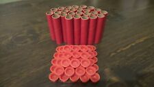 "New 25 Firework Craft Tubes 3"" x 9/16"" x 1/16"" Plus 50 End Plugs Red Pyro Shells"