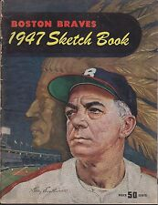 1947 Boston Braves Sketch Book Yearbook with Billy Southworth HOF on cover