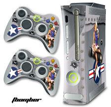 Skin Decal Wrap for Xbox 360 Original Gaming Console & Controller Xbox360 BOMB S