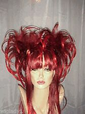 SIN CITY WIGS DRAG QUEEN LONG STRAIGHT LAYERS FLIPPED TEASED SEXY HOT RED vixen