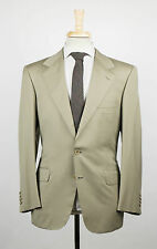 New. BRIONI Palatino Moss Green Wool 3 Roll 2 Button Suit Size 50/40 S $6495