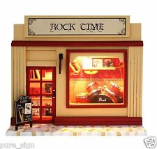 DIY Handcraft Miniature Project Dolls House European Musical Instruments Shop