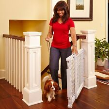 Adjustable Plastic Stairway Gate Baby Toddler Child Pet Locking Security Barrier