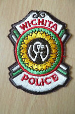 Patches: WICHITA KANSAS POLICE PATCH (NEW,approx. 3.12x2.14inch)