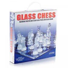 32pcs vetro satinato bordo a scacchi Tradizionale Classico Gioco di Famiglia Regalo divertente Festa
