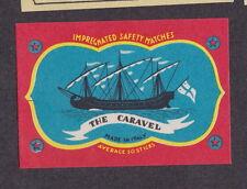 Ancienne étiquette allumettes Italie  BN14666 The Caravel Bateau