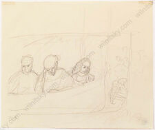 "Broncia Koller-Pinell (1863-1934) ""In Theatre Loge"", Drawing, 1910s"