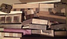 Assorted Exotic Hardwood Scraps Black Walnut, Cherry, Maple, Purple Heart