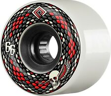 Powell Peralta Snakes 66mm White Skateboard Cruiser Wheels