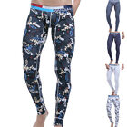 Sexy Mens Long Soft Johns Warm Thermal underwear Winter legging Pants Underpants