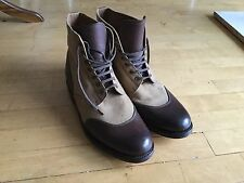 Grenson Mens Boots. Size 10. Brown, Beige. True Leather And Wooden Sole. Superb.