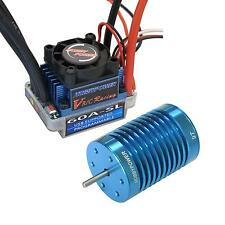 HP 60A ESC Brushless Speed Controller + 9T 4400KV BL Motor for 1/10 1/12 RC Car