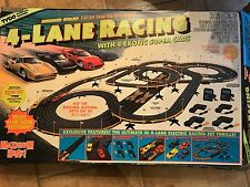 TYCO 6686 VIntage 4- Lane Racing Electric Slot Car Set w/ Extras