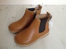 RRP £26! BRAND NEW NEXT Beige Brown Leather Girls Boys Boots Size 7 24