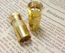 1x F Type Male Plug to PAL Female Adapter Gold Plated Connector plug TV Cable