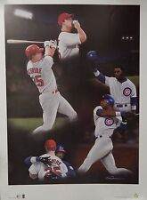 Mark McGwire & Sammy Sosa 24x17 Lithograph Signed By Eric Franchimon LE 620 MLB