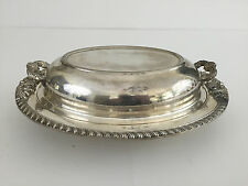 vintage silver on copper covered serving dish 1920's 1930's England