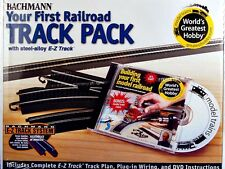 Bachmann HO Scale Train E-Z Track Steel/Black First Railroad Track Pack 44497