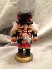 """Drummer Nutcracker Small Wooden Christmas Holiday Decoration 5"""" Multi-Colored"""