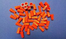 LOT OF 50 ORANGE  WIRE CONNECTORS   TWIST ON CONICAL NUT NUTS