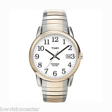Men's Two Tone Timex Watch with Date, Indiglo Light Low Vision Easy to See