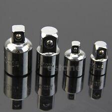 """4pcs 1/2"""" 3/8"""" 1/4"""" Socket Ratchet Converter Reducers Adaptors Tool Set Garage"""