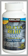 Kirkland Mucus Relief Guaifenesin 400mg Chest Expectorant 200 tablets