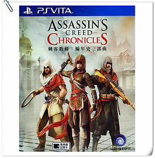 3 IN 1 PSV Assassin's Creed Chronicles 刺客教條:編年史三部曲 中英文版 VITA Action Ubisoft